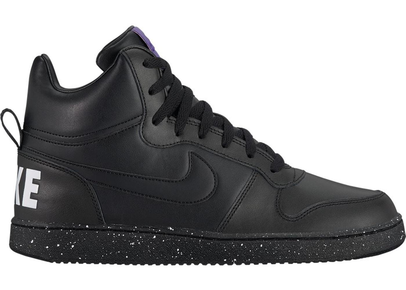 hot sale online 627df c4039 Nike Court Borough Mid Black White Court Purple