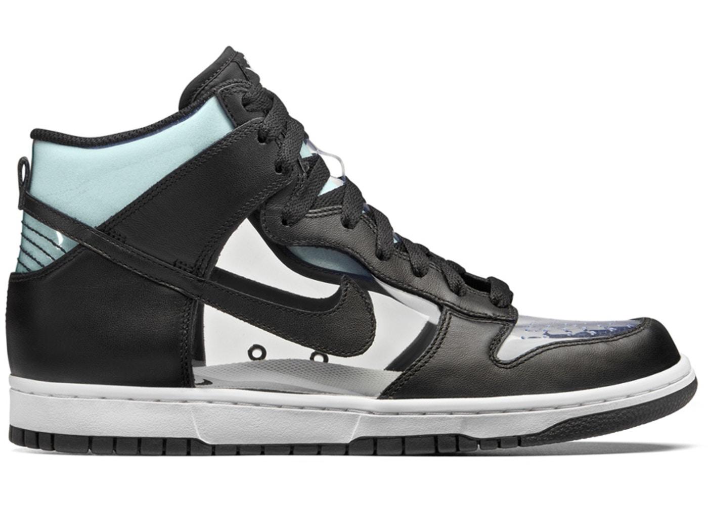 half off 1c549 2a0c3 Nike Dunk High Comme Des Garcons Clear