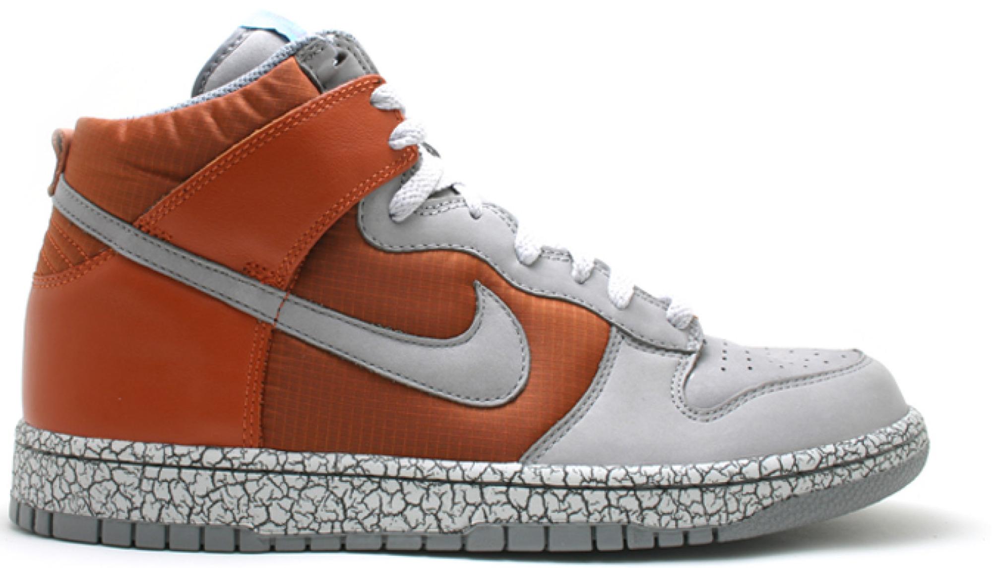 Nike Dunk High Earthquake Dark Orange