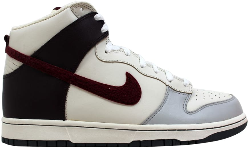 Nike Dunk High Neutral Grey/Deep Garnet-Sail