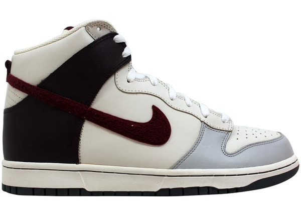 official photos 44ee7 87d6a Nike Dunk High Neutral Grey Deep Garnet-Sail