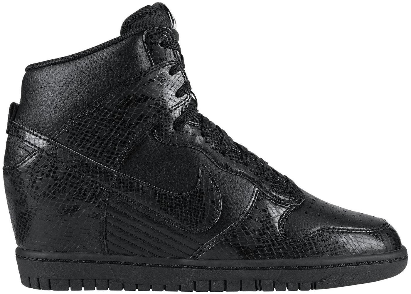 new products 0837f 7e7e7 Nike Dunk High Sky Hi Black Leather Snake (GS) - 528899-010
