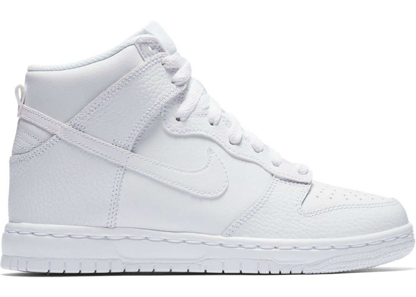 size 40 85d02 8189c Nike Dunk High White 2017 (GS) - 921797-100