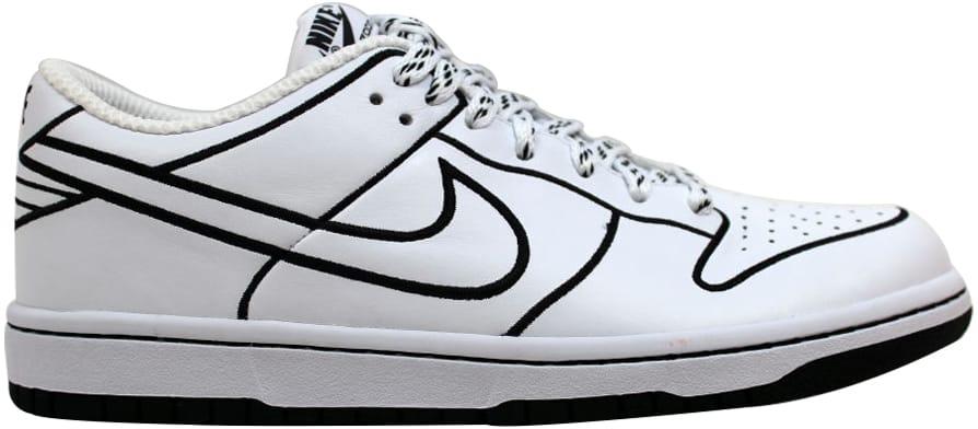 Nike Dunk Low 1 Piece White/White-Black