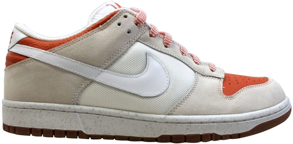 Nike Dunk Low Cl White/White-Hoop Orange