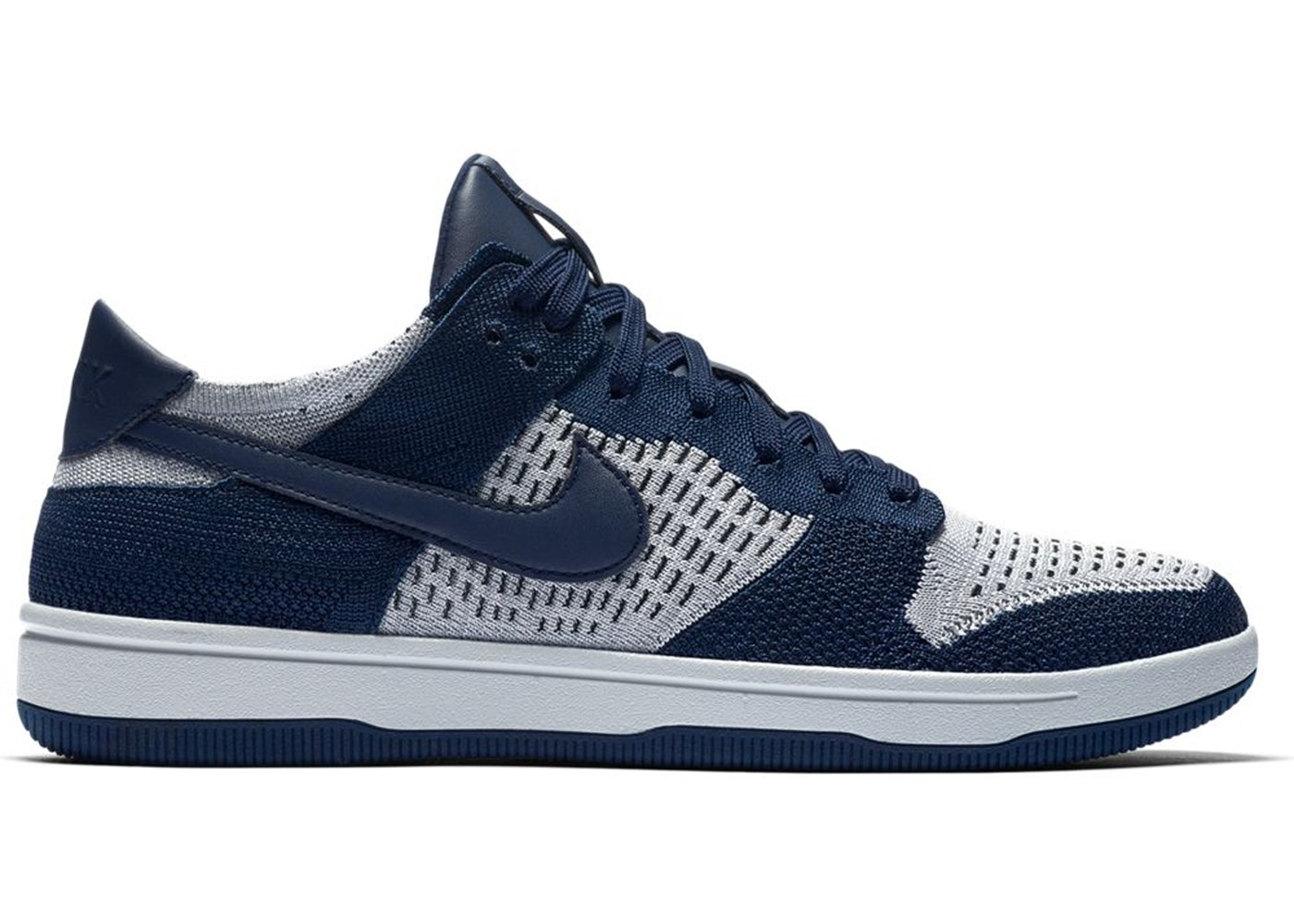 detailed look 4c713 98d37 Nike Dunk Low Flyknit College Navy Pure Platinum
