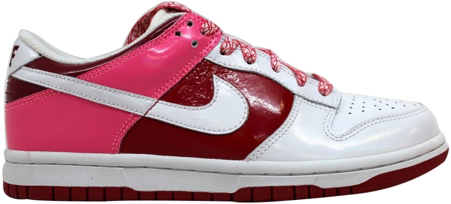 Nike Dunk Low White/White-Varsity Red-Team Red (W)
