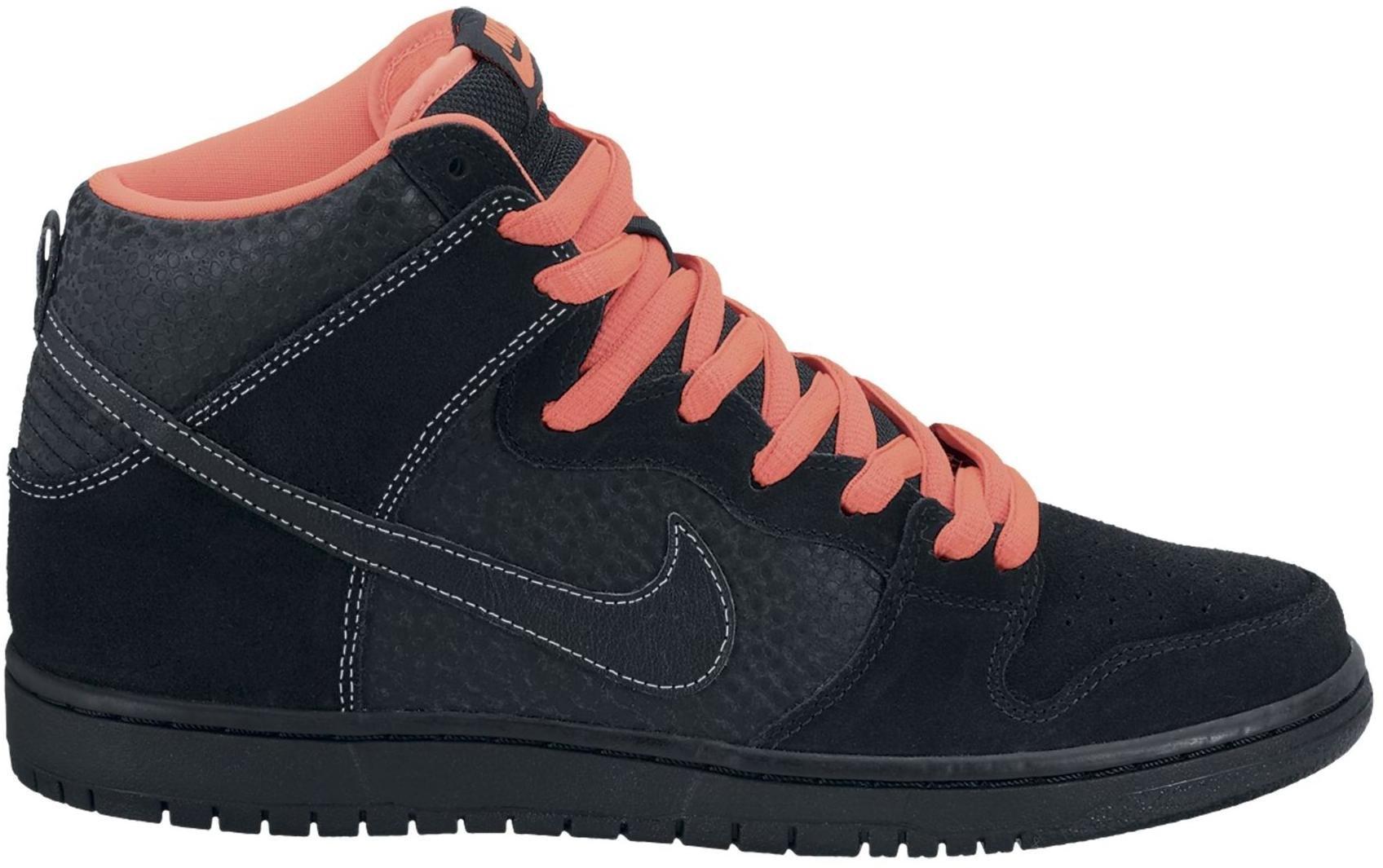 Nike Dunk SB High Black Safari Atomic Red