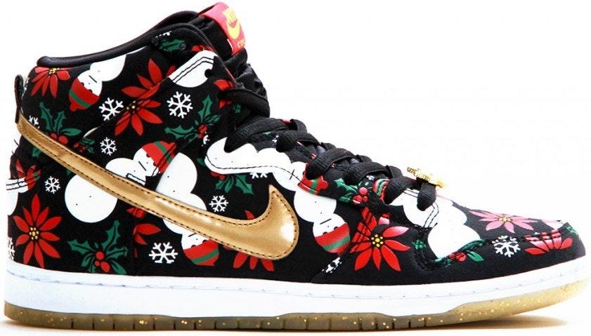 "Nike Dunk SB High Concepts ""Ugly Christmas Sweater"" - Black"