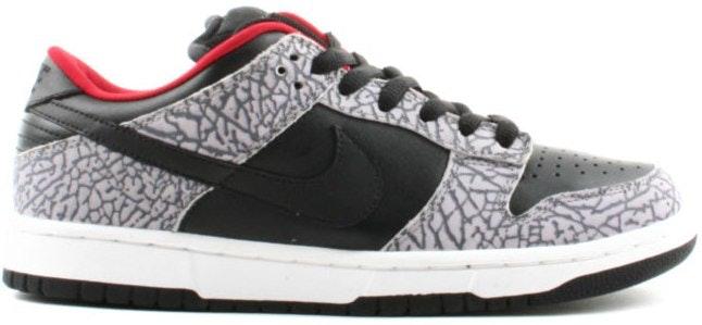 Nike Dunk SB Low Supreme  Black Cement (2002)