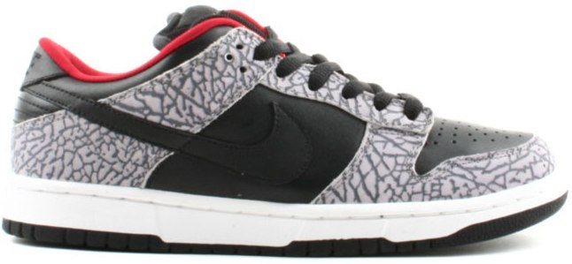 Nike Dunk SB Low Supreme NY Black Cement (2002)
