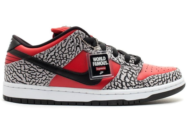 new product 2ca97 4a12f Nike Dunk SB Low Supreme Red Cement (2012)