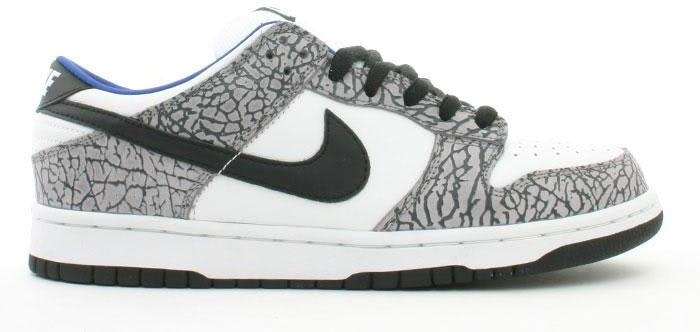Nike Dunk SB Low Supreme  White Cement (2002)