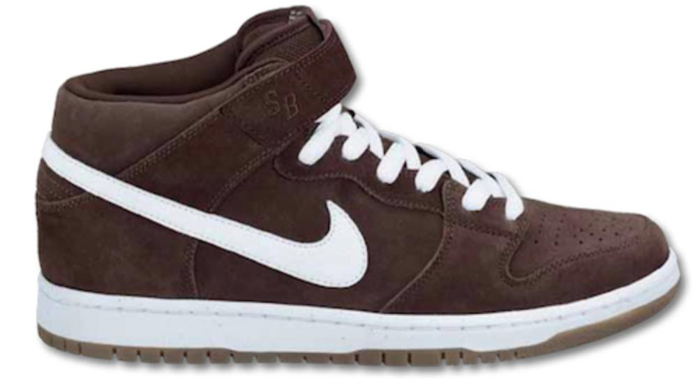 Nike Dunk SB Mid Baroque Brown White Gum Sneakers (Baroque Brown/White-Gum Dark Brown)