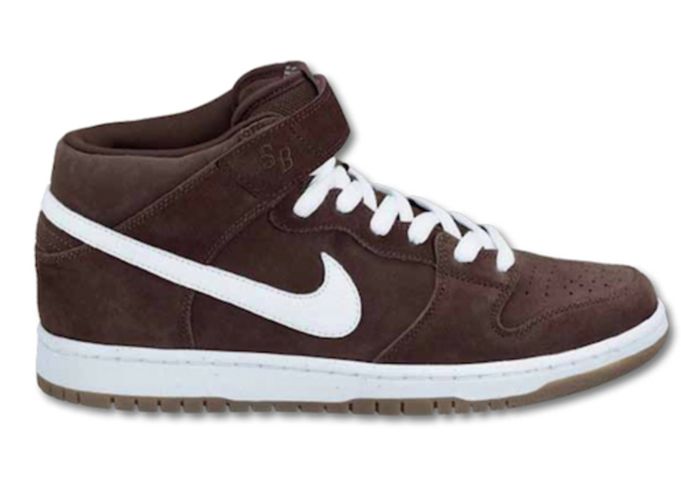 new concept decaa 267e8 Nike Dunk SB Mid Baroque Brown White Gum - 314383-219