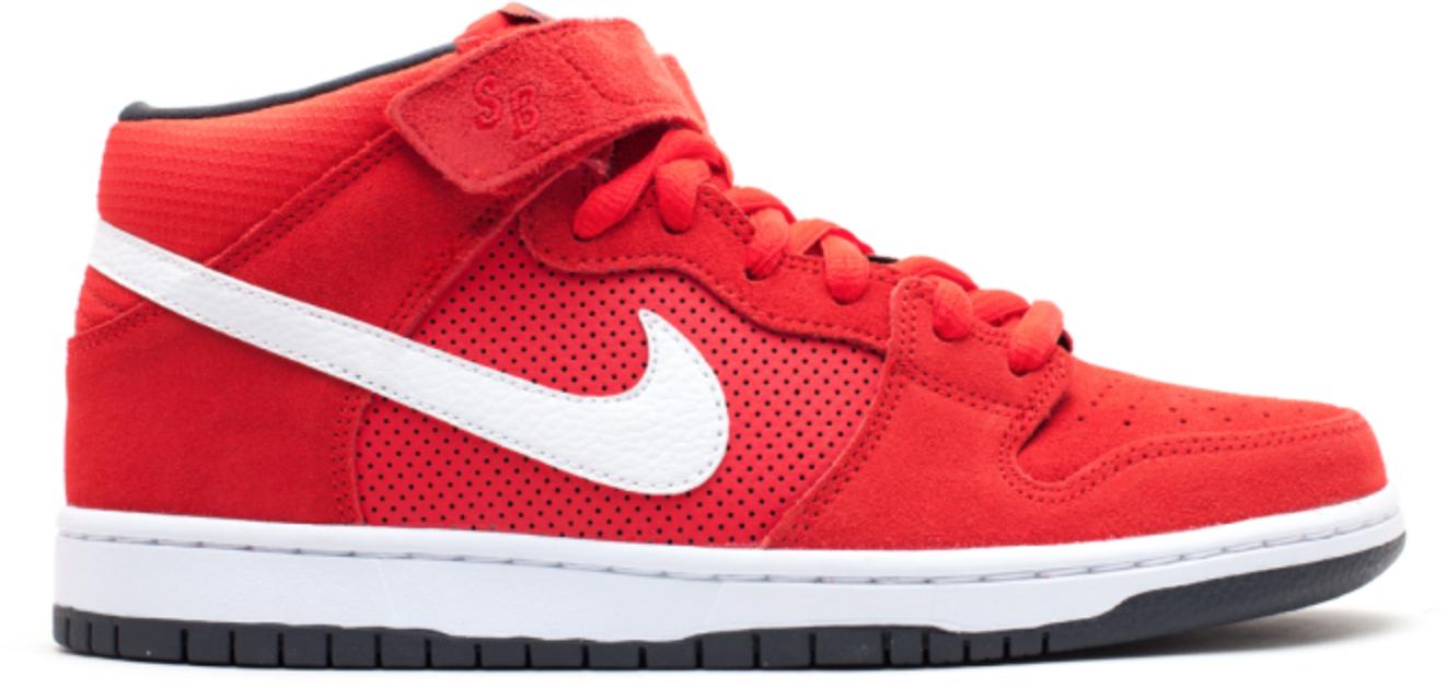 Nike Dunk SB Mid Hyper Red White
