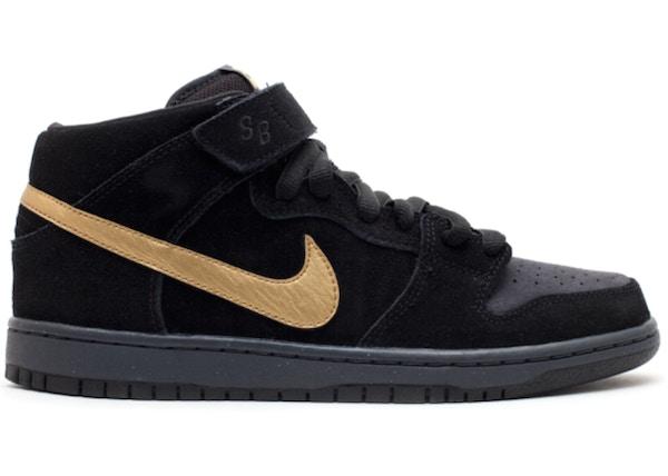 finest selection b032e b85e0 Nike Dunk SB Mid Obsidian Metallic Gold