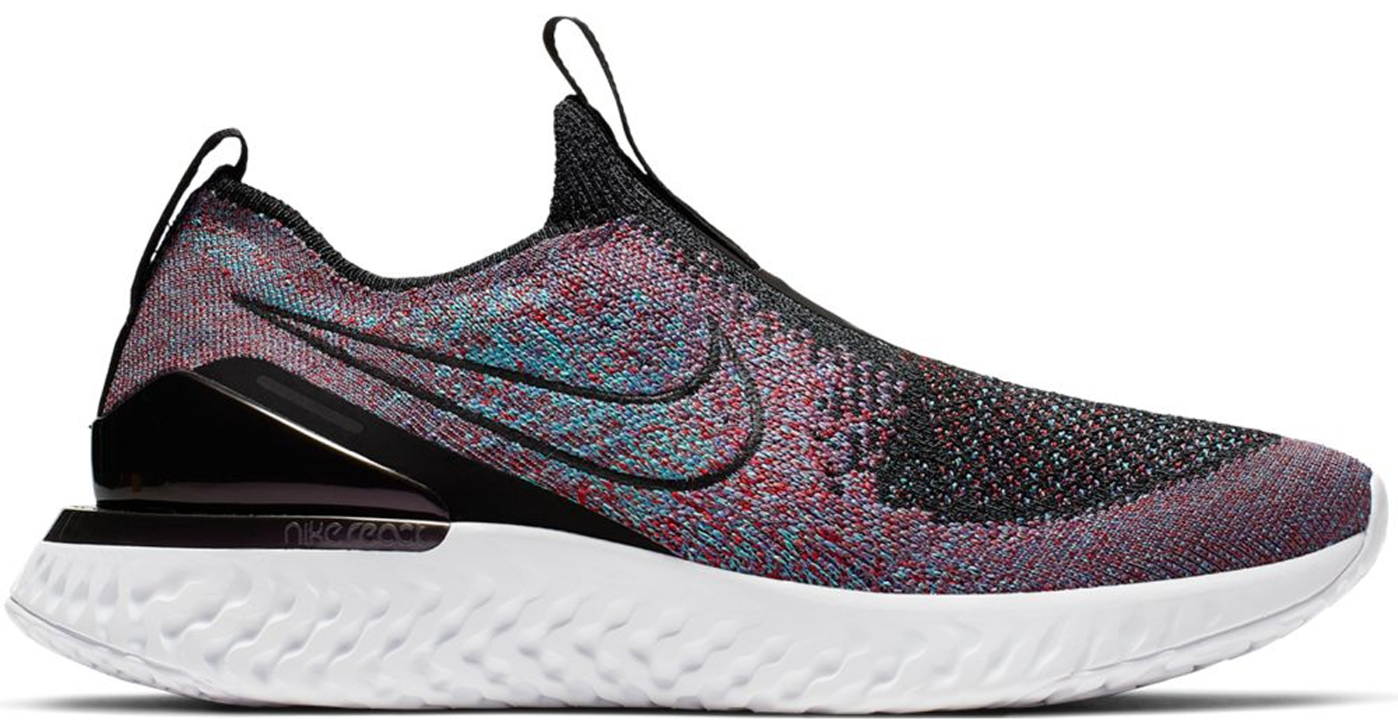 Nike Epic Phantom React Flyknit Black University Red Hyper Jade (W)