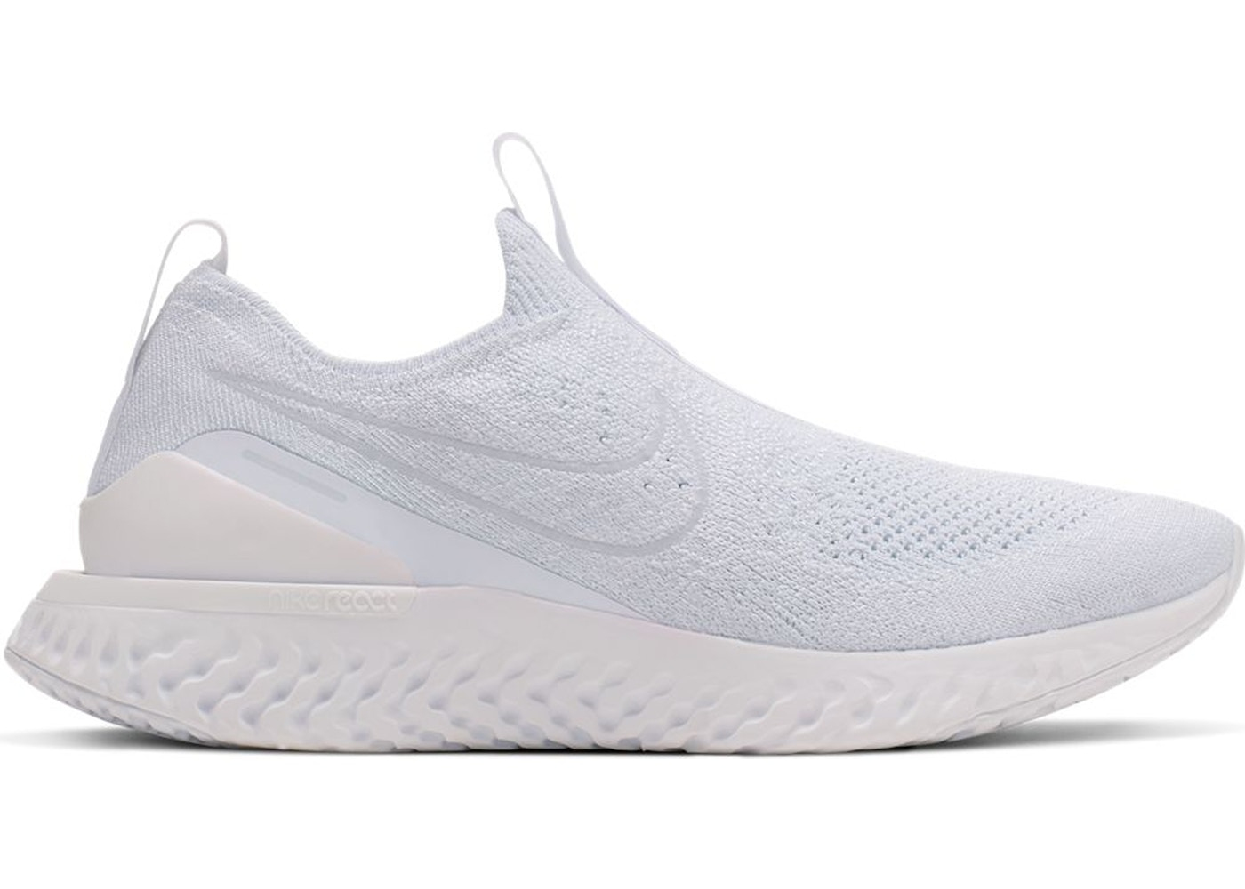 867f67064ca69 Sell. or Ask. Size --. View All Bids. Nike Epic Phantom React Flyknit White  Pure Platinum ...