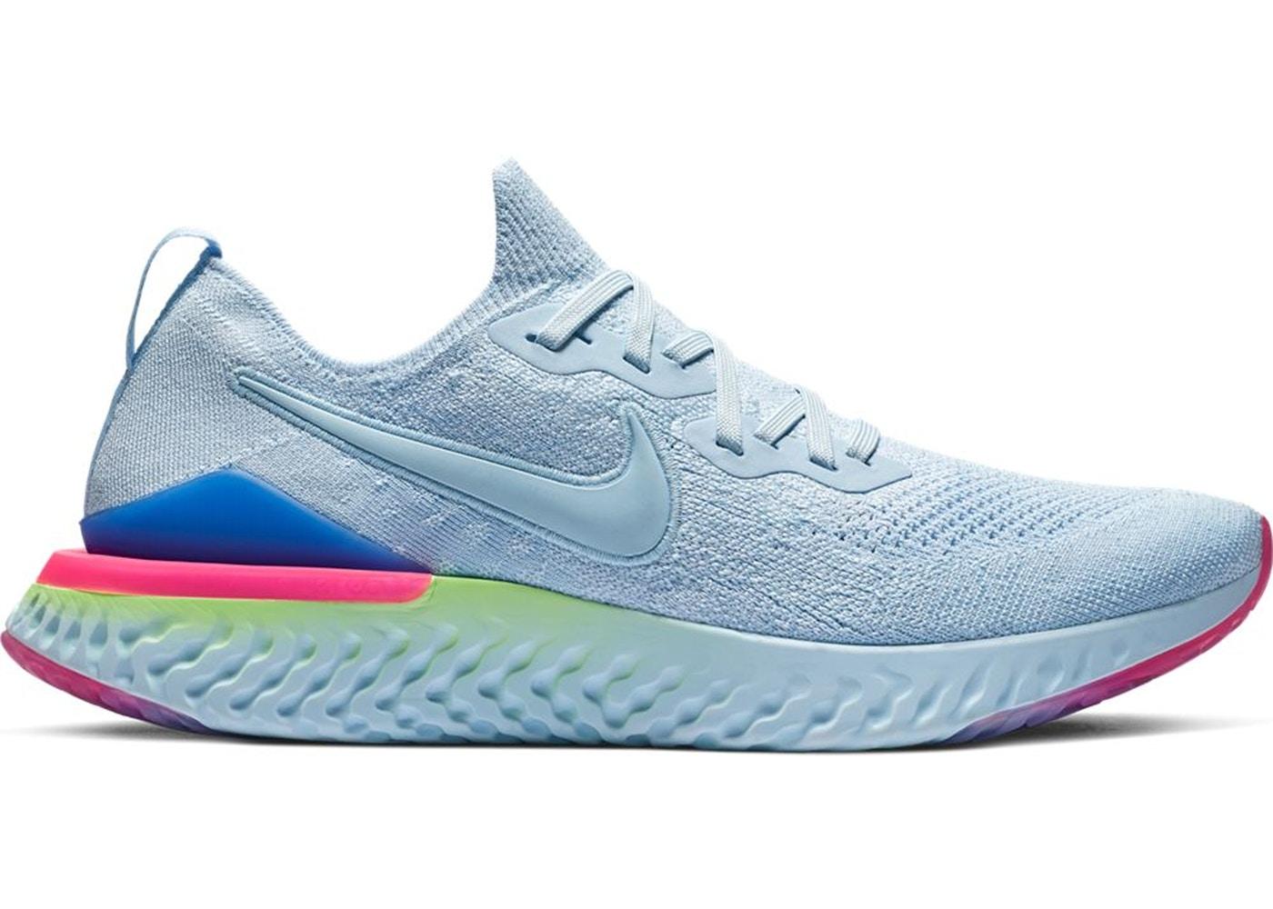fbe3d8a041 Nike Epic React Flyknit 2 Hydrogen Blue Sapphire Hyper Pink - BQ8928-453