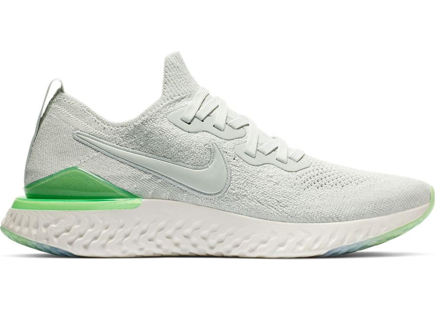 60c4c13e0c256 Nike Epic React Flyknit 2 Light Silver Lime Blast (W) - BQ8927-005