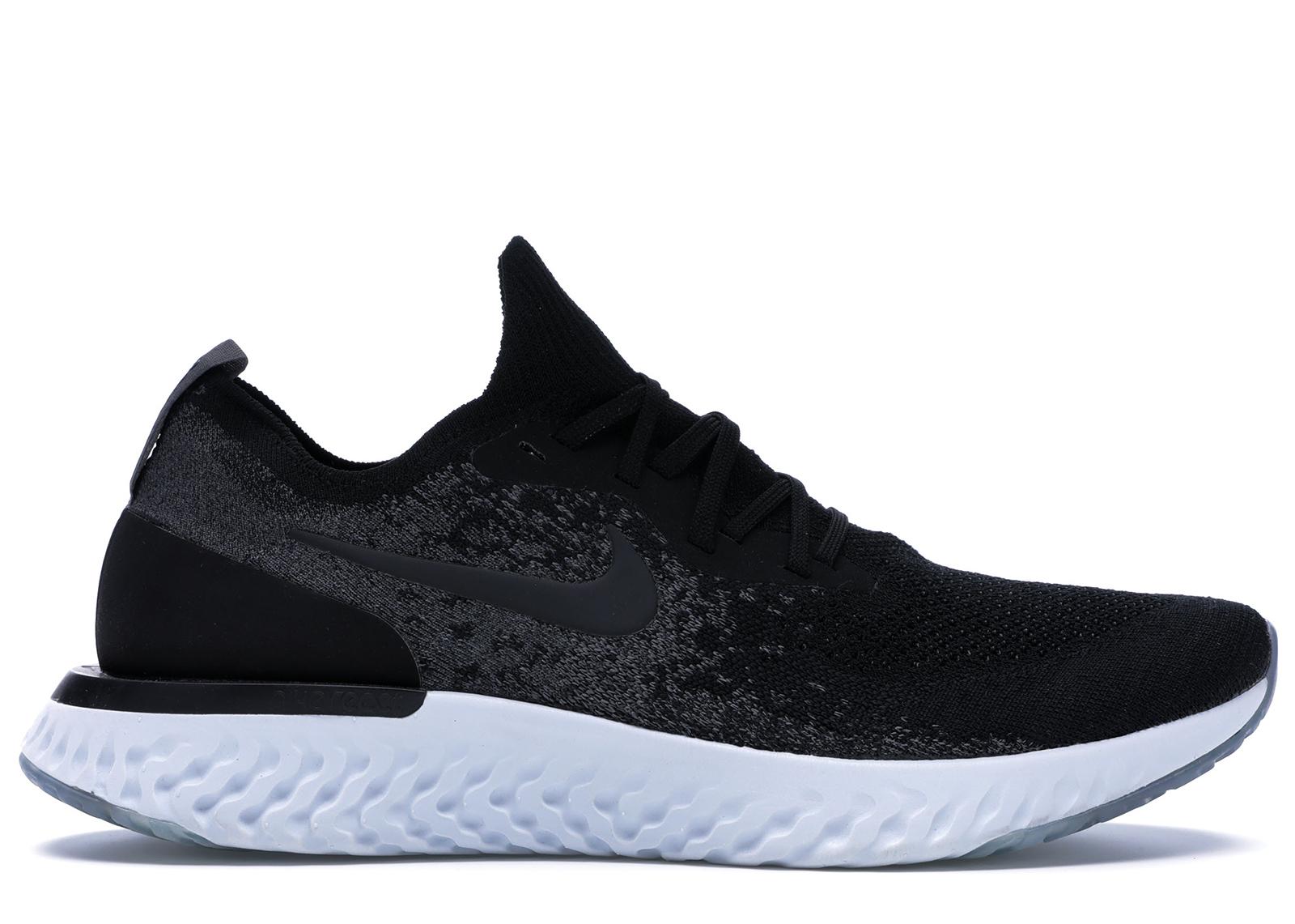 Nike Epic React Flyknit Black Dark Grey
