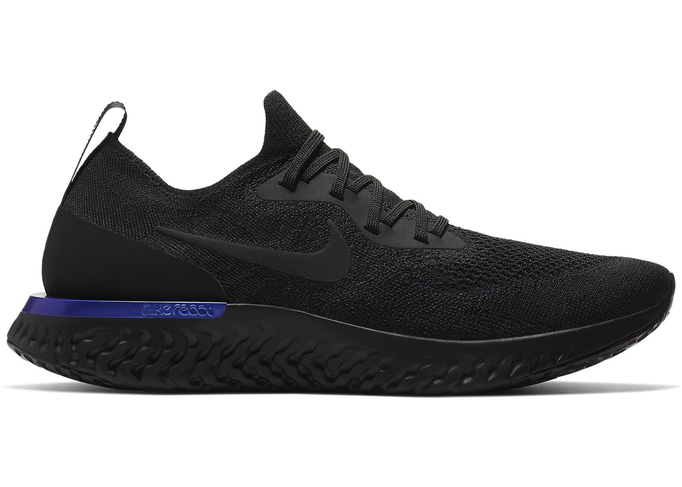meet 7aa5b 2d0ff Sell. or Ask. Size 9. View All Bids. Nike Epic React Flyknit Black Racer  Blue