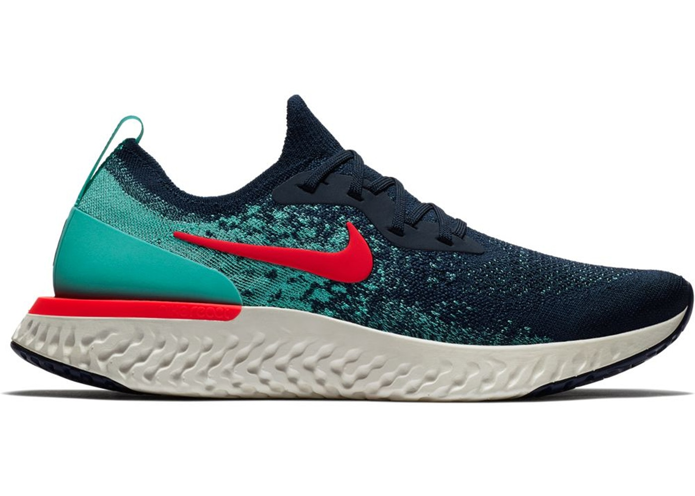 4ae4bbcafe4b Sell. or Ask. Size  11. View All Bids. Nike Epic React Flyknit College Navy  Hyper Jade