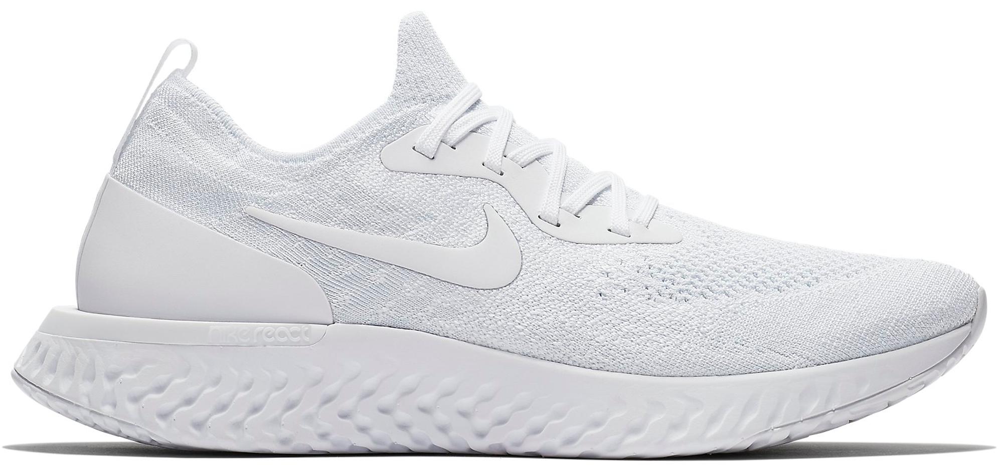 Nike Epic React Flyknit True White