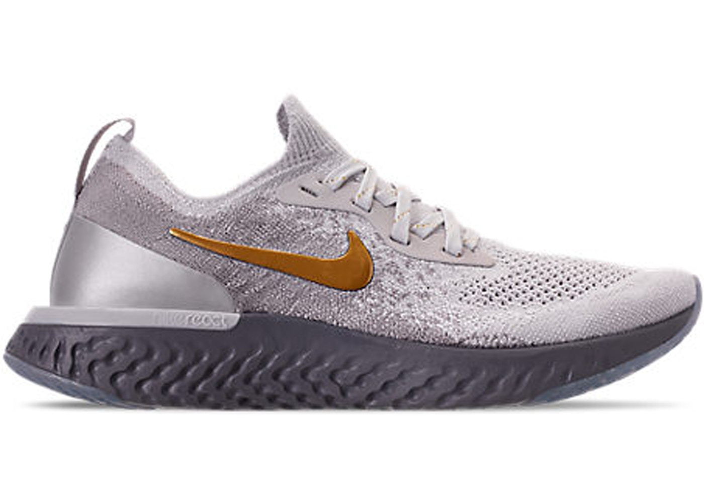 d51aa648698cc Nike Epic React Flyknit Vast Grey Metallic Gold (W) - AV3048-070