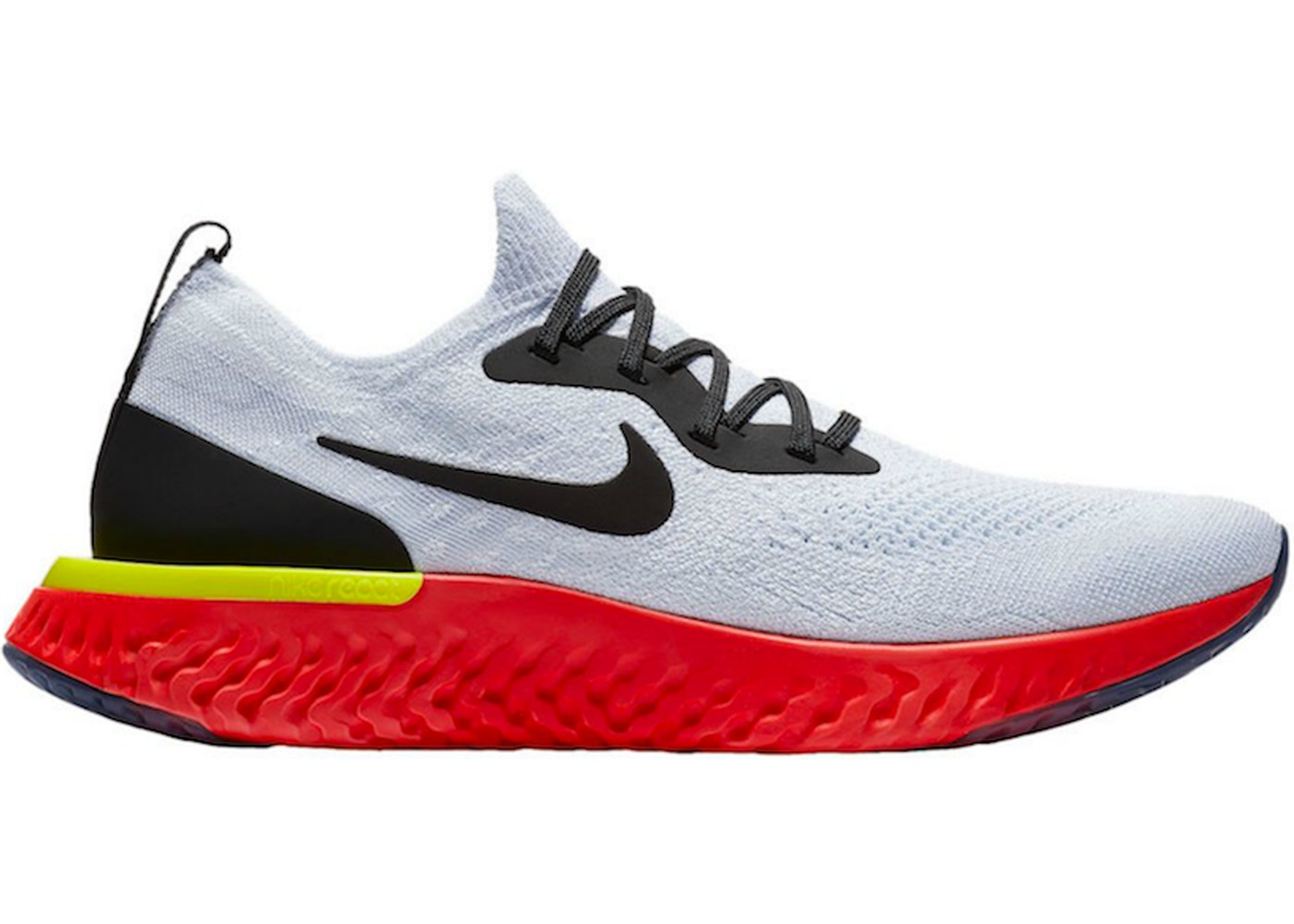 464ffb505934 Nike Epic React Flyknit White Bright Crimson - AQ0067-103
