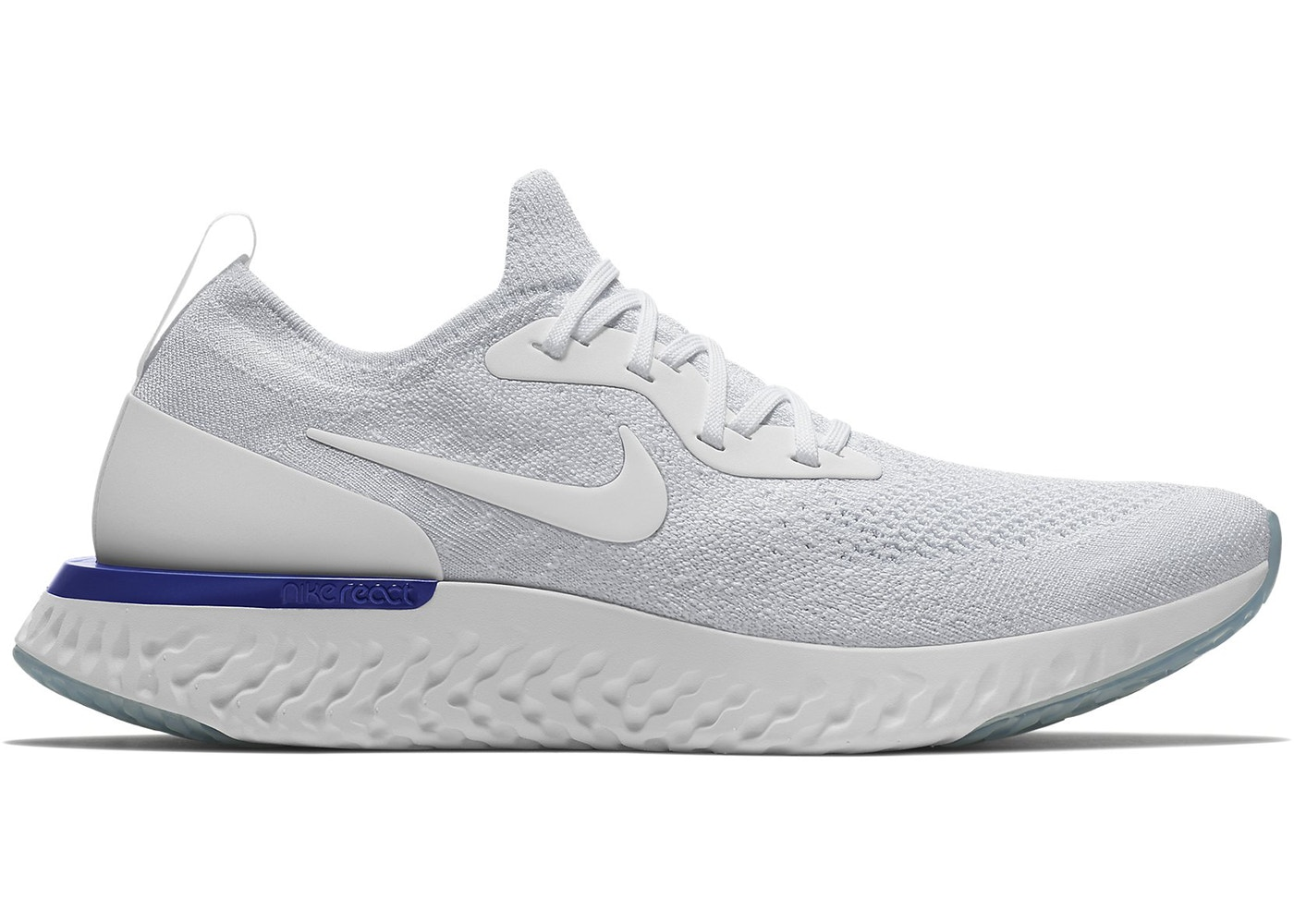 f8f7c1d8a134 Nike Epic React Flyknit White Racer Blue - AQ0067-100