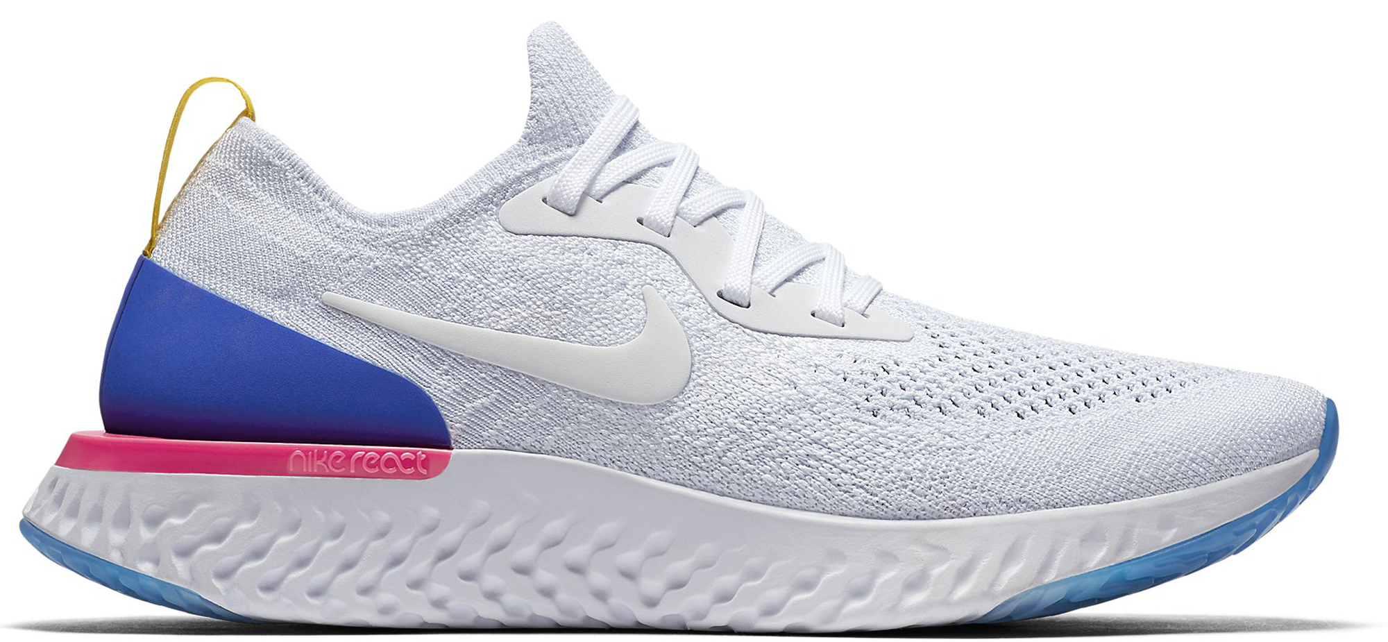 Nike Epic React Flyknit White Racer Blue Pink Blast (W)