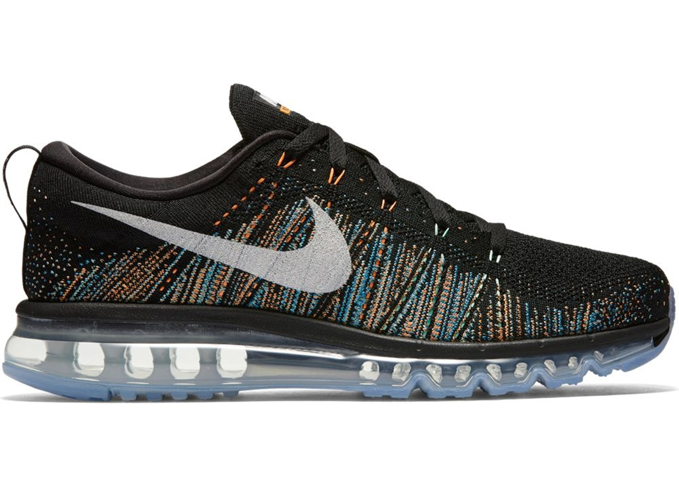Sell. or Ask. Size  12. View All Bids. Nike Flyknit Air Max Black  Multi-Color ca61574bbe18