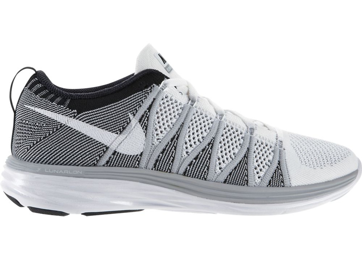 separation shoes ccb72 5df08 Sell. or Ask. Size  10.5. View All Bids. Nike Flyknit Lunar 2 White Wolf  Grey Black