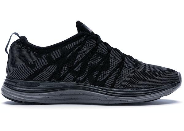 super popular 03fbe 56cea Nike Flyknit Lunar1+ Supreme Black - 623823-001