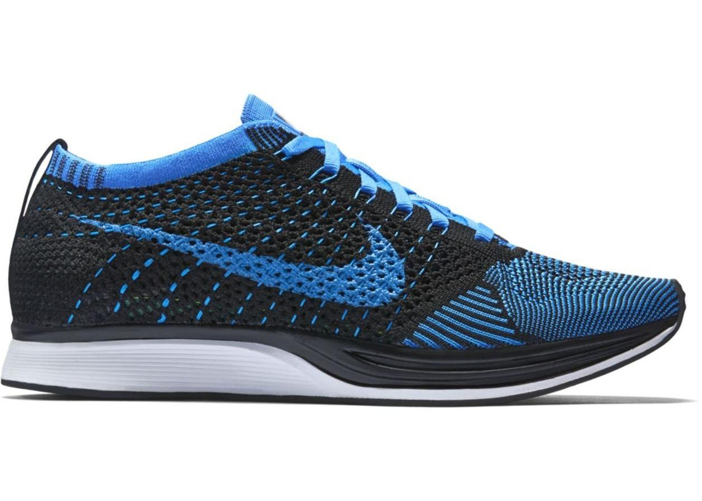 36fd2629818d7 Nike Flyknit Racer Black Photo Blue - 526628-001