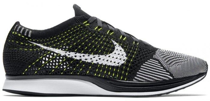 Nike Flyknit Racer Black White Volt