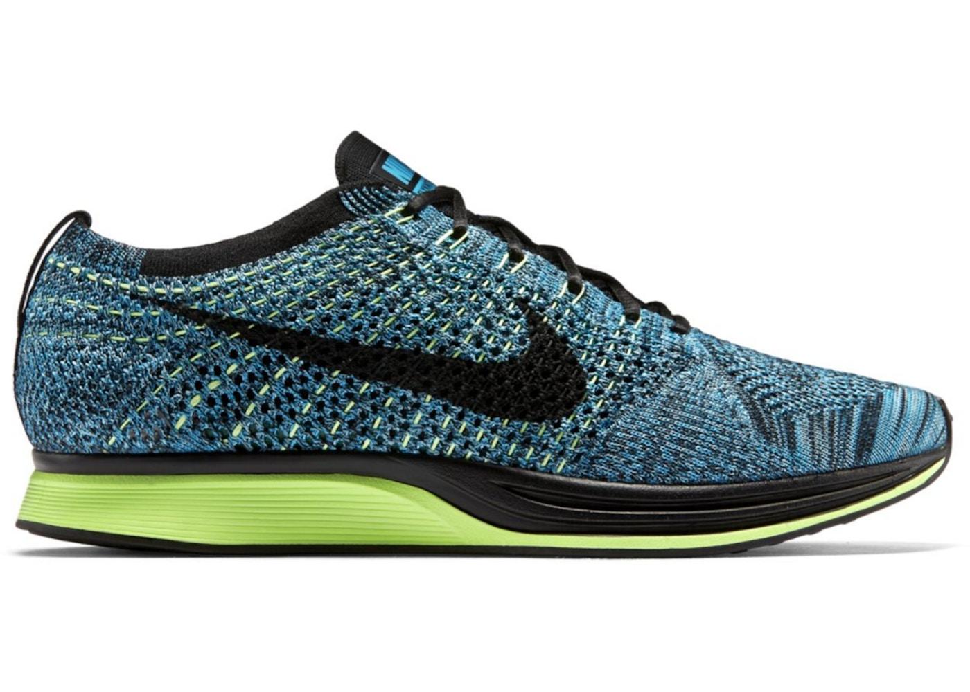 12107f08f545 Nike Flyknit Racer Blue Gecko - 526628-401