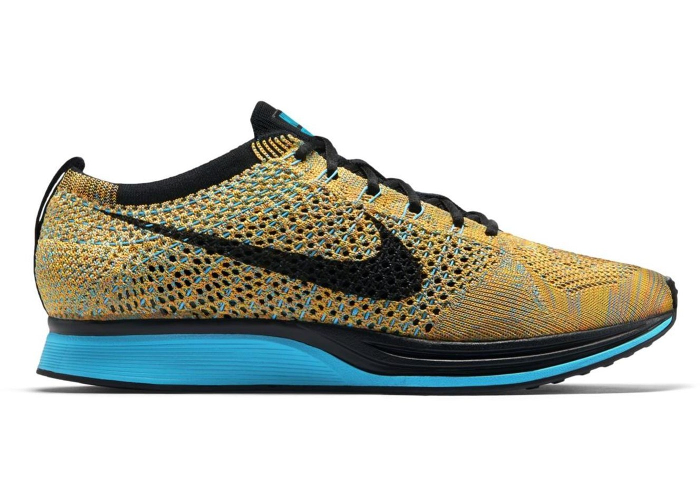 new concept df998 ede52 nike flyknit racer blue yellow