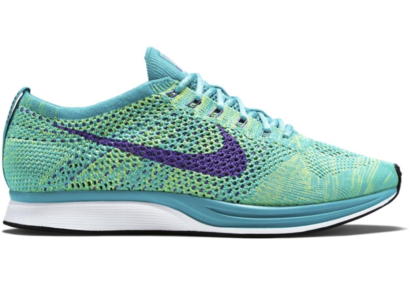 separation shoes 83e2a bdbe1 Nike Flyknit Racer Sport Turquoise Hyper Grape