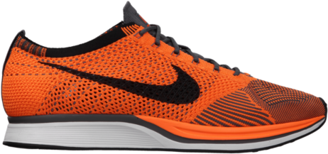 womens nike flyknit racer blue orange