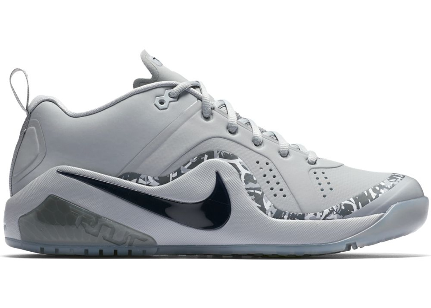 932488e6245 Nike Force Zoom Trout 4 Turf Wolf Grey Black - 917838-002