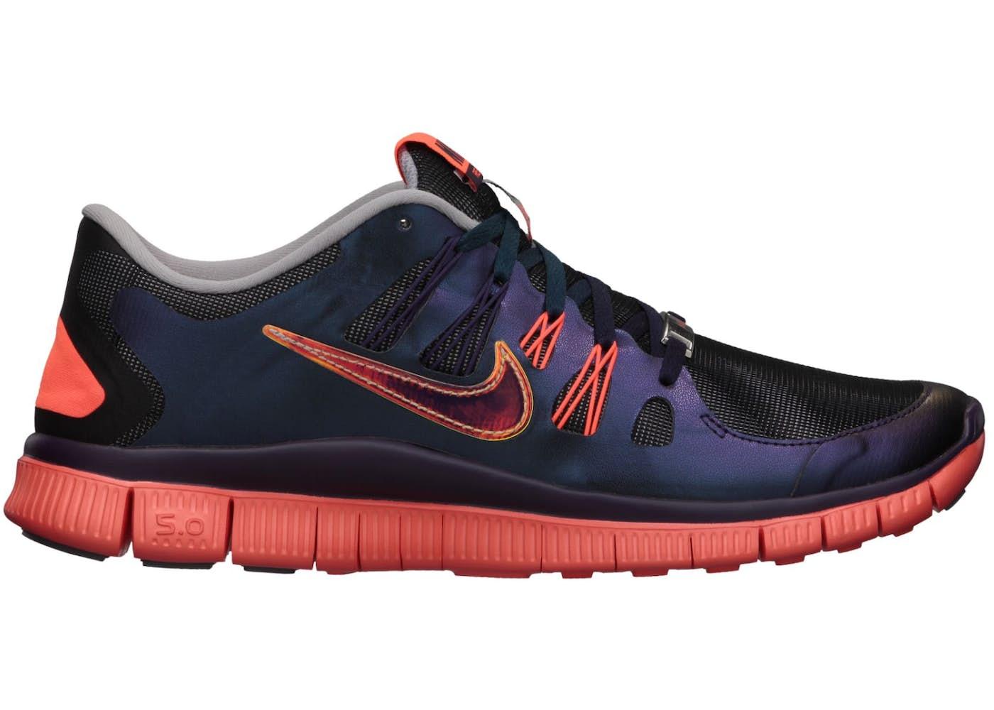 Nike Free 5.0 Doernbecher (2013) Sneakers (Wolf Grey/Total Crimson-Grand Purple)