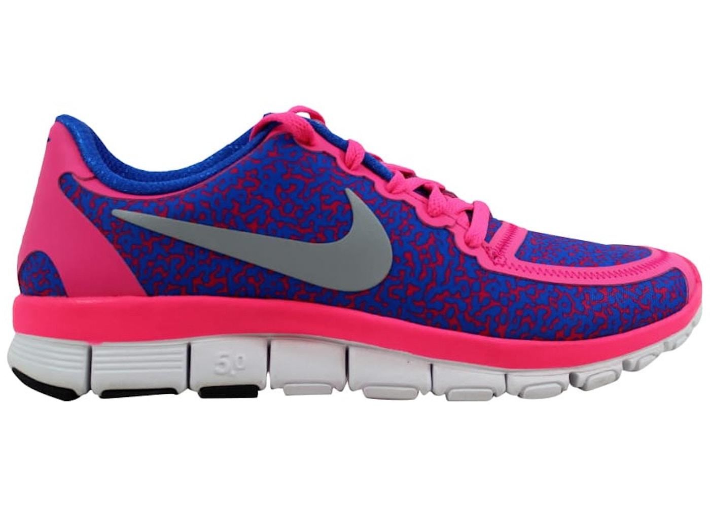 hot sales a965e 0ea4f Nike Free 5.0 V4 Hyper Pink Metallic Platinum-Hyper Cobalt (W ...