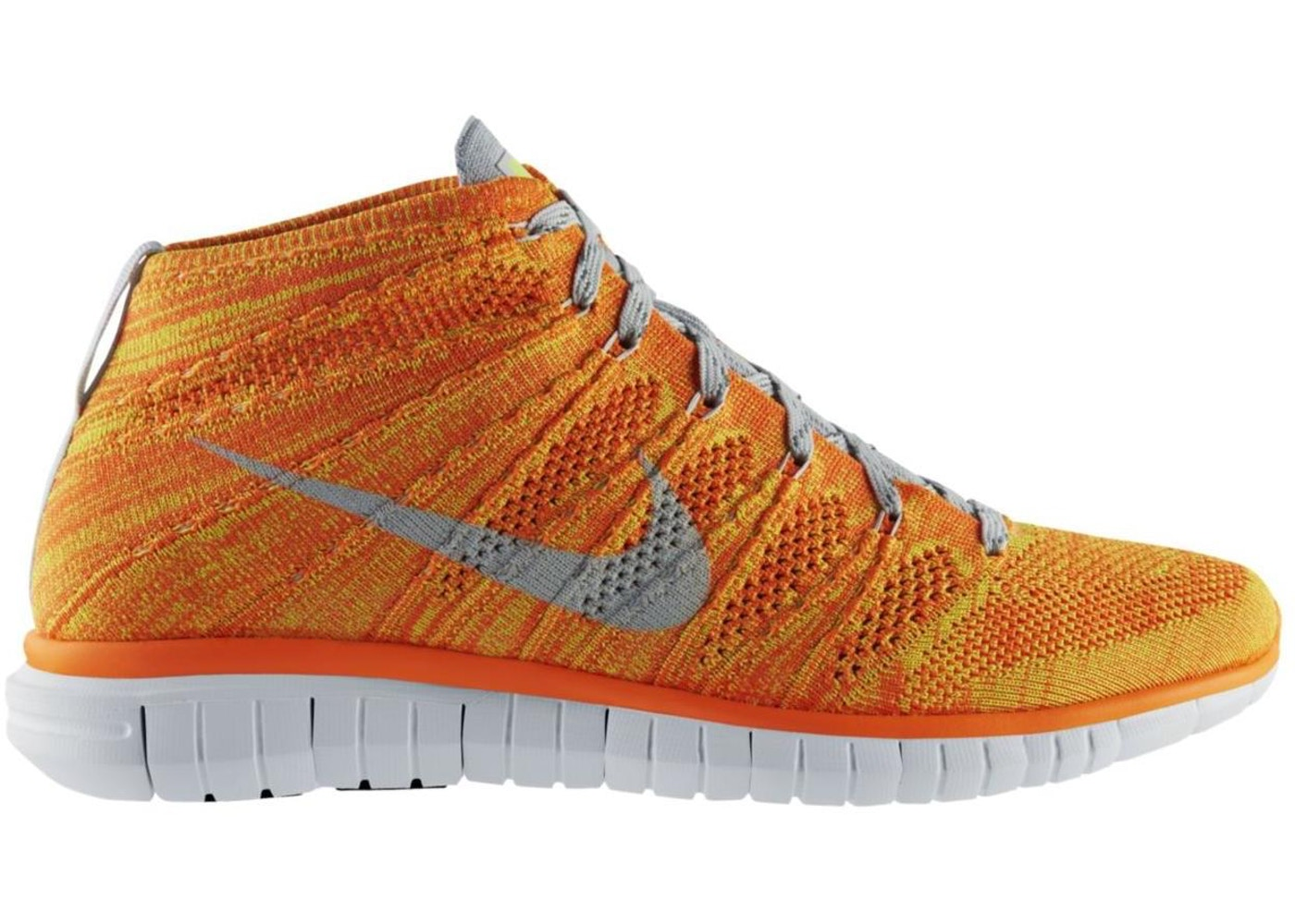 Sell. or Ask. Size 8. View All Bids. Nike Free Flyknit Chukka Total Orange  Volt 717c03205