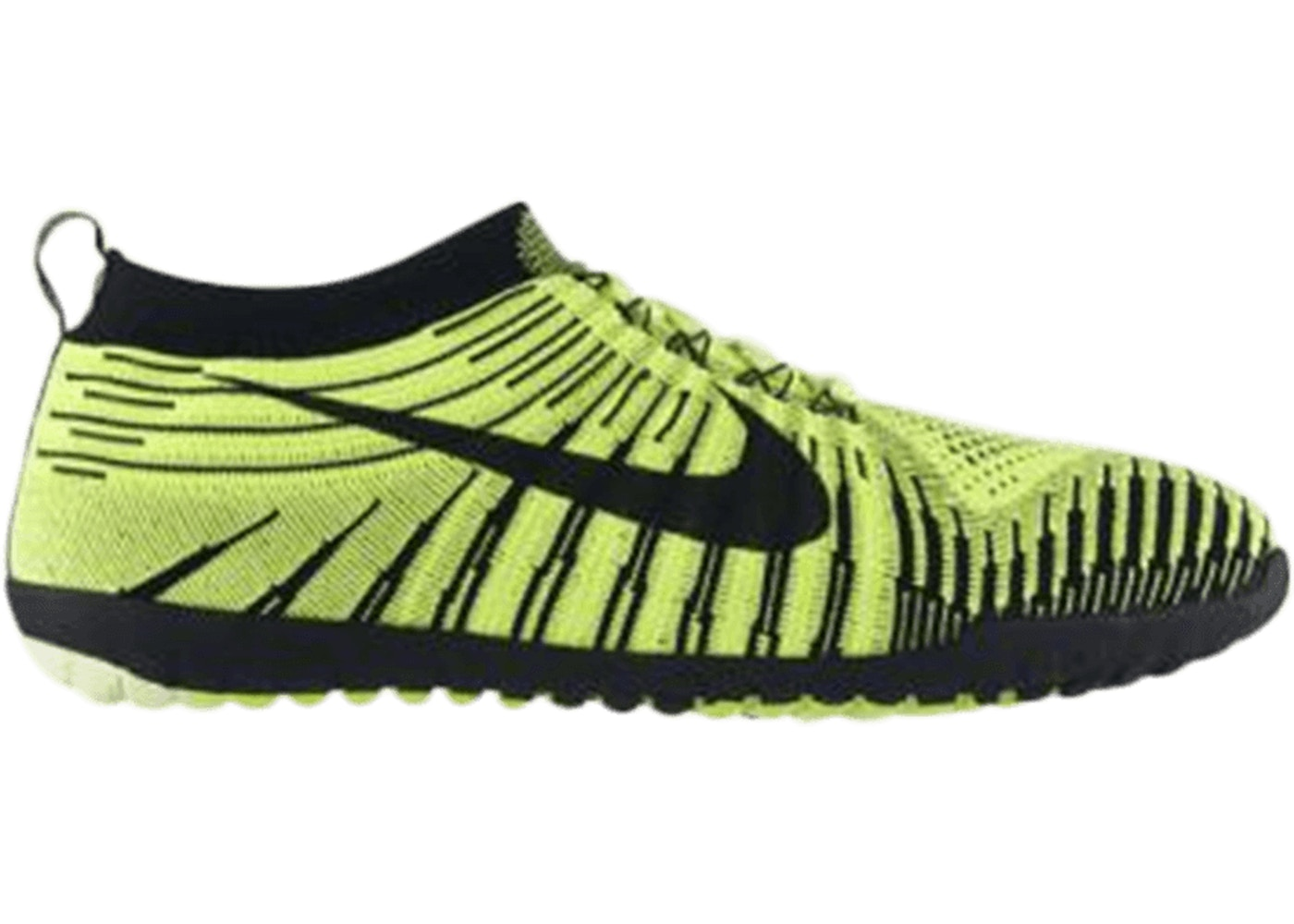 6b600d9a52813 Nike Free Hyperfeel Run Black White Volt - 596249-701