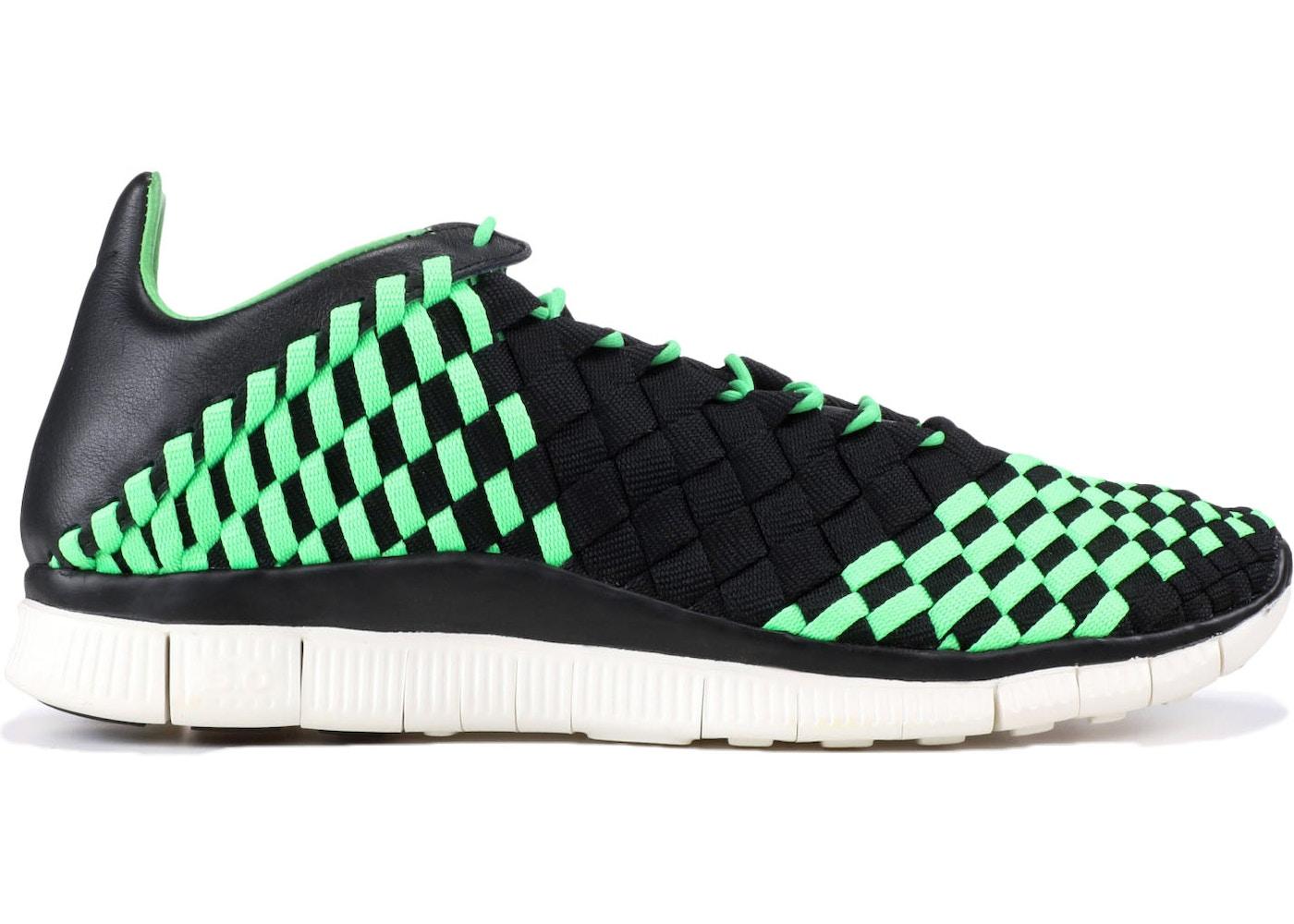 a03360813d65 Nike Free Inneva Woven Black Poison Green - 579916-030