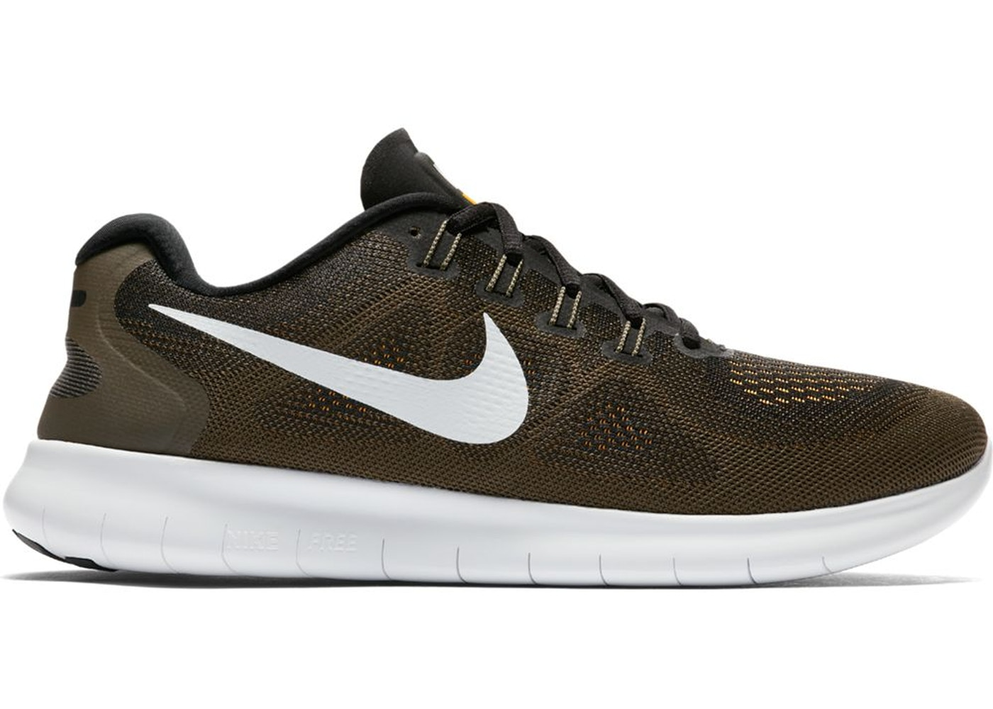 Nike Free RN 2017 Black Off White Cargo Khaki - 880839-008