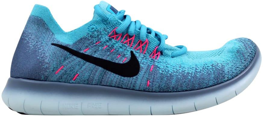 Nike Free RN Flyknit 2017 Work Blue/Dark Obsidian (W) - 880844-400